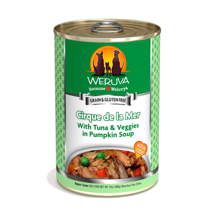 Weruva Cirque De La Mer Dog Food with Tuna & Veggies 14 oz