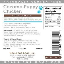 Meals for Dogs Cocomo Puppy Chicken Frozen Dog Food