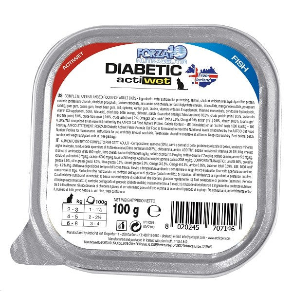 Forza10 Diabetic Actiwet Fish 3.5oz