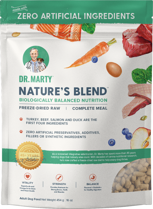 Dr. Marty Nature's Blend Premium Freeze-Dried Raw Dog Food