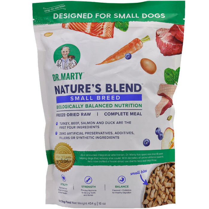 Dr. Marty Nature's Blend Small Breed Premium Freeze-Dried Raw Dog Food