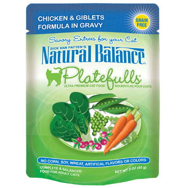 Natural Balance Feline Platefulls Chicken and Giblets 3oz
