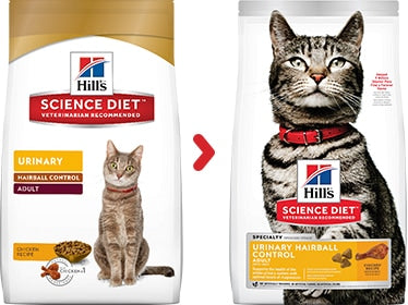 Hill's Science Diet Adult Urinary Hairball Control Cat Food 3.5lbs