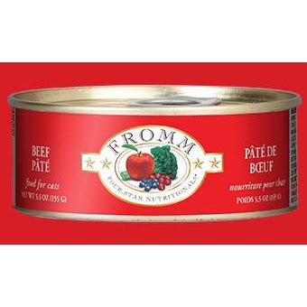 Fromm 4 Starr Beef Pate Cat Food 5.5 oz