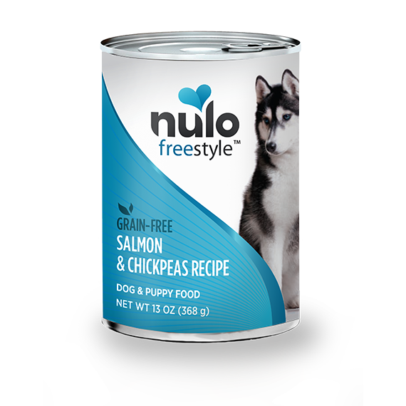 Nulo Freestyle Salmon & Chickpeas Recipe Grain-Free Canned Dog Food, 13 oz