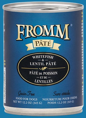 Fromm Dog Can Grain Free Whitefish and Lentil Pate 12.2 oz