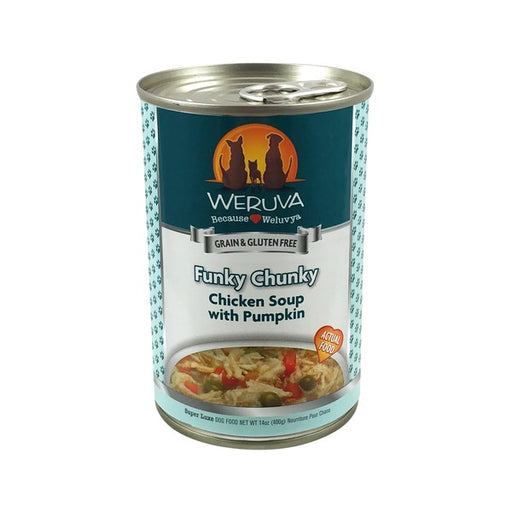 Weruva Funky Chunky Chicken Soup with Pumpkin Dog Food 14 oz