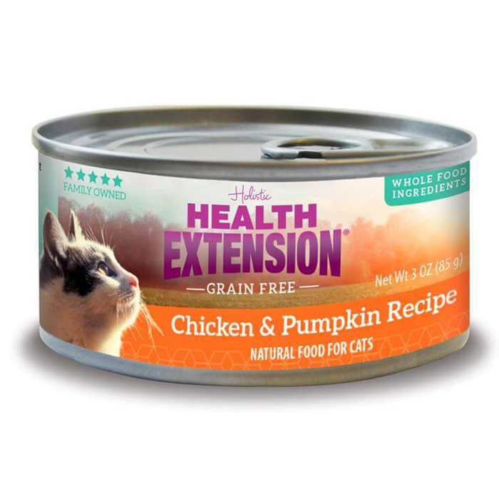 Health Extension Chicken and Pumpkin Canned Cat Food 2.8 oz