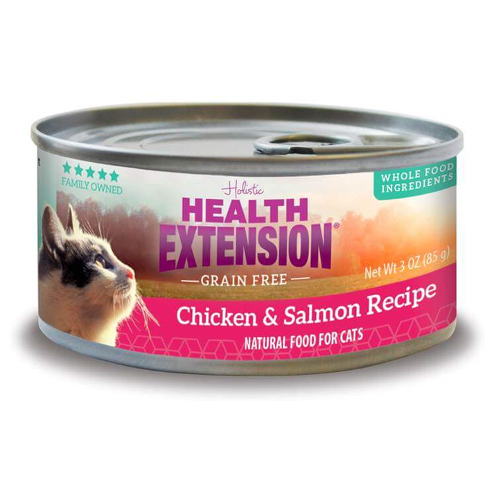 Health Extension Salmon and Chicken Canned Cat Food 2.8 oz