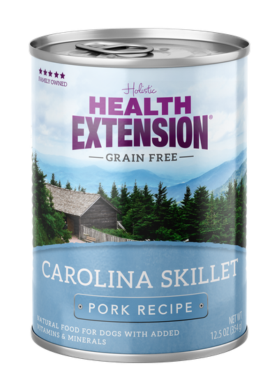 Holistic Health Extension Grain Free Carolina Skillet Pork Recipe Canned Dog Food, 12.5 oz