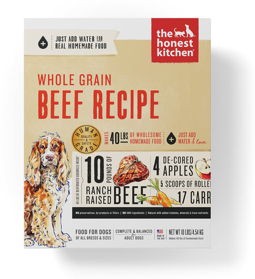 The Honest Kitchen Whole Grain Dehydrated Dog Food, Beef