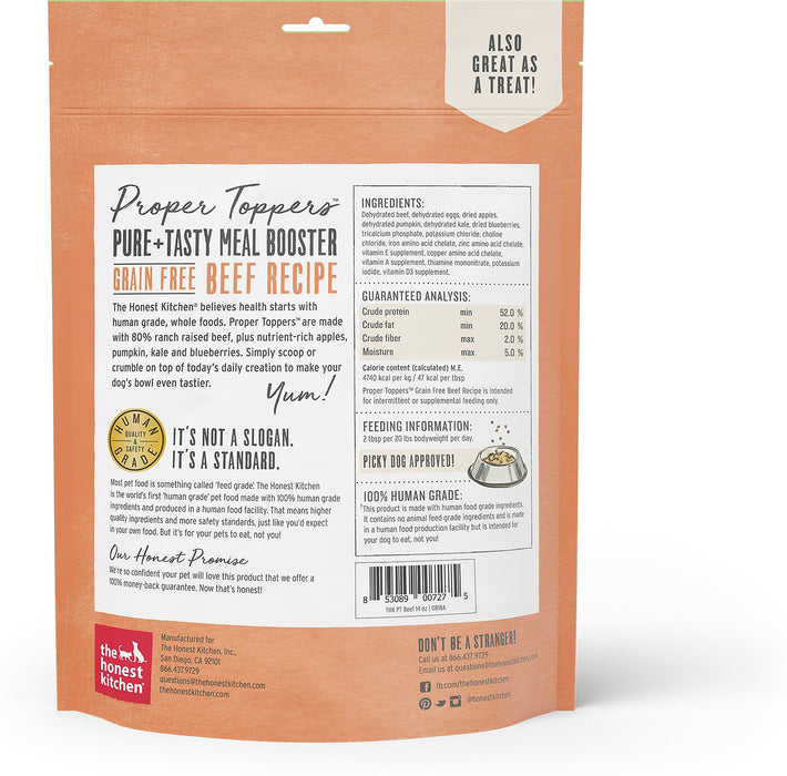 The Honest Kitchen Grain-Free Propper Toppers, Beef, 14 oz