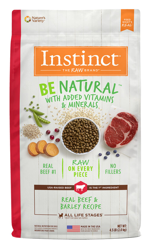 Nature's Variety Instinct Be Natural Beef and Barley 25lb