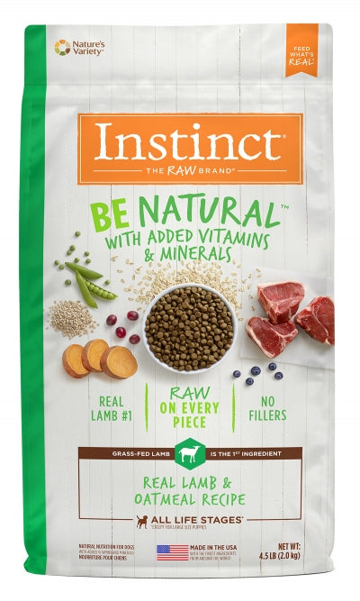 Nature's Variety Instinct Be Natural Lamb and Oatmeal 25 lb