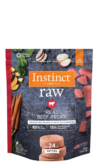 Nature's Variety Instinct Raw Frozen Patties 85/15