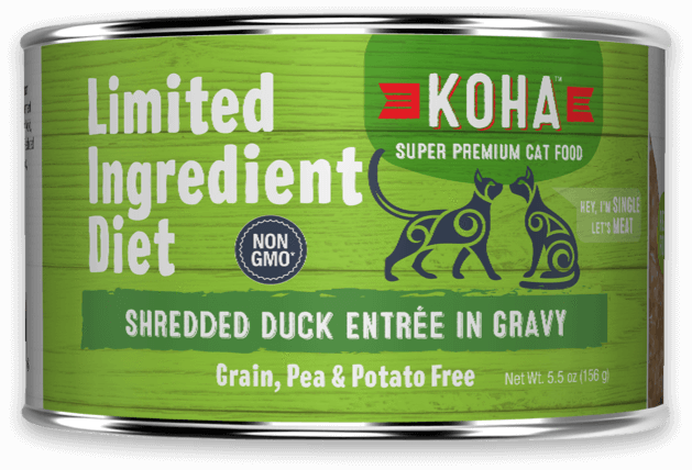 Koha Grain-Free LID Shredded Duck Entrée Cat Food