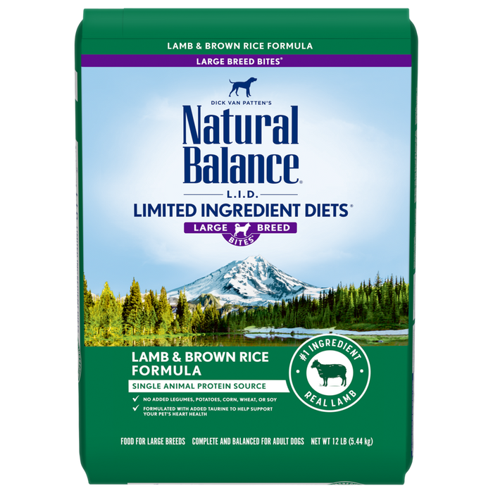 Natural Balance Limited Ingredient Lamb and Rice Large Breed 26 lbs