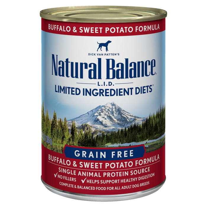 Natural Balance Buffalo & Sweet Potato Formula 13oz