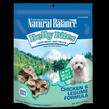 Natural Balance Belly Bites 6 oz Dog Treats: Chicken and Legume