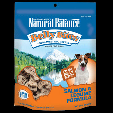 Natural Balance Belly Bites 6 oz Dog Treats: Salmon and Legume