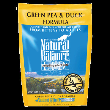 Natural Balance Limited Ingredient Cat Food: Duck and Green Peas 5 lbs