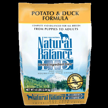 Natural Balance Limited Ingredients Diet Dog Food: Duck and Potato 13 lbs