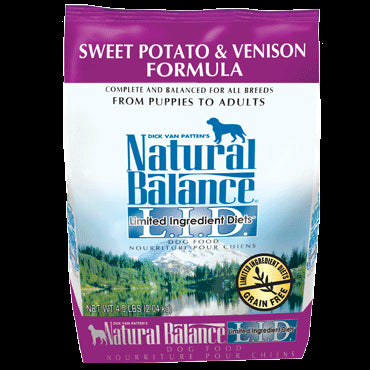 Natural Balance Limited Ingredients Diet Dog Food: Venison and Sweet Potato 4.5 lbs