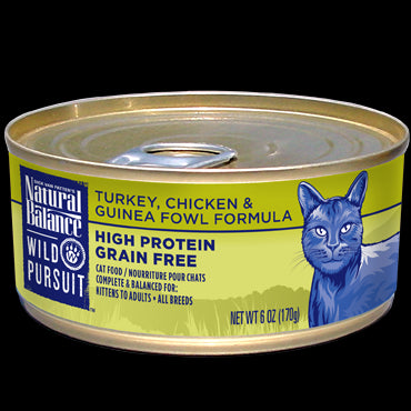 Natural Balance Wild Pursuit Cat Food Turkey Chicken And Guinea