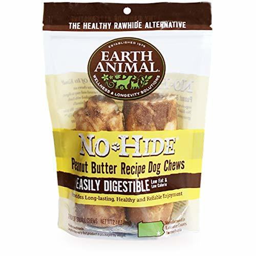 "Earth Animal No Hide Dog Chews, Peanut Butter, 4"" 2pk"