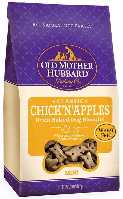 Old Mother Hubbard Crunchy Treat with Chicken and Apples - Mini Size 20 oz