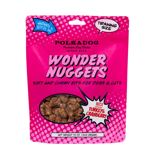 Polka Dog Wonder Nuggets, Turkey & Cranberry, 12 oz
