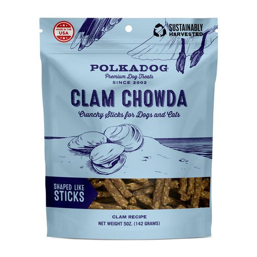 Polka Dog Clam Chowda Treats 8 oz
