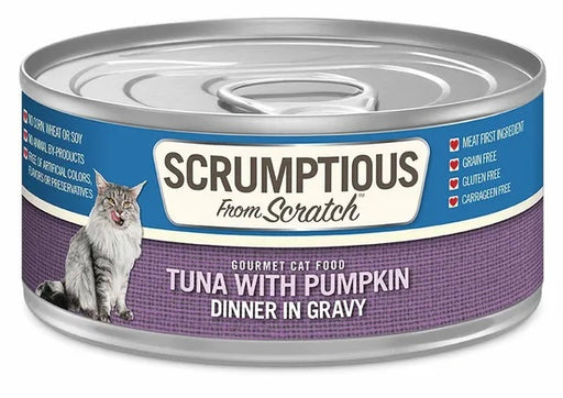 Scrumptious from Scratch Wet Cat Food, Tuna with Pumpkin, 2.8 oz