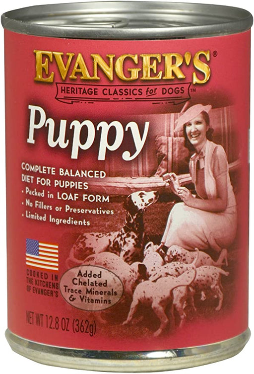 Evanger's Puppy & Underweight Dogs Dog Food, 12.8 oz
