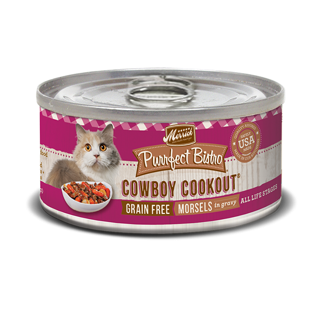 Merrick Purrfect Bistro Cowboy Cookout Cat Food 5.5 oz