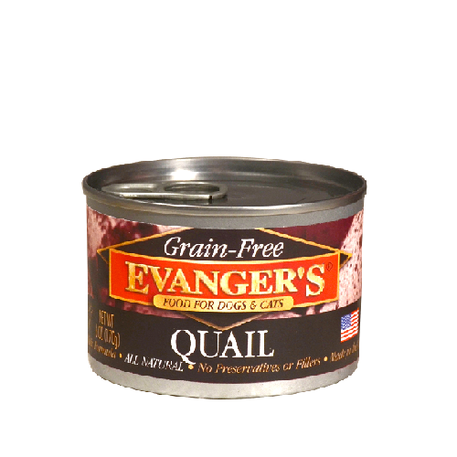 Evanger's Grain Free Quail For Dogs & Cats 6oz