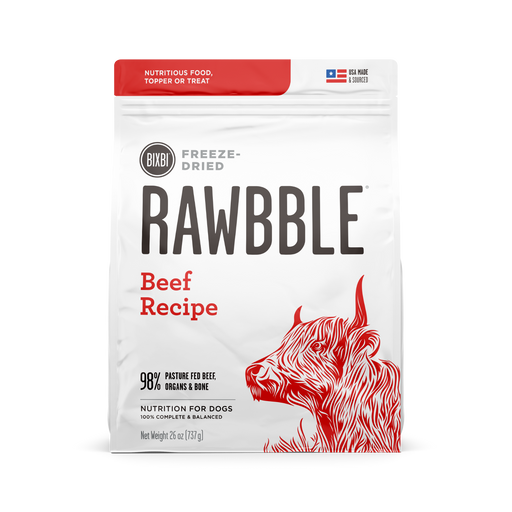 Bixbi Rawbble Freeze Dried Beef Recipe Dog Food