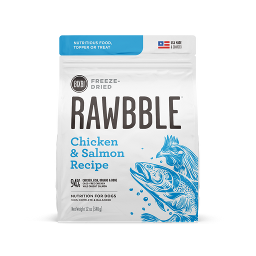 Bixbi Rawbble Freeze Dried Chicken & Salmon Recipe Dog Food