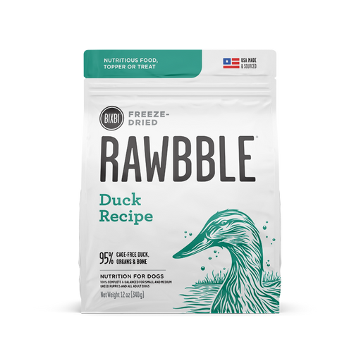 Bixbi Rawbble Freeze Dried Duck Recipe Dog Food