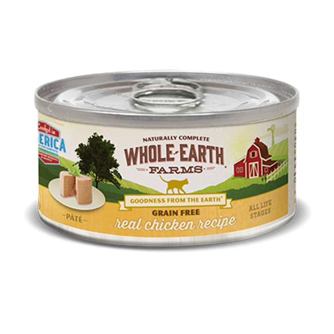 Merrick Whole Earth Farms Grain-Free Chicken Canned Cat Food 2.75 oz