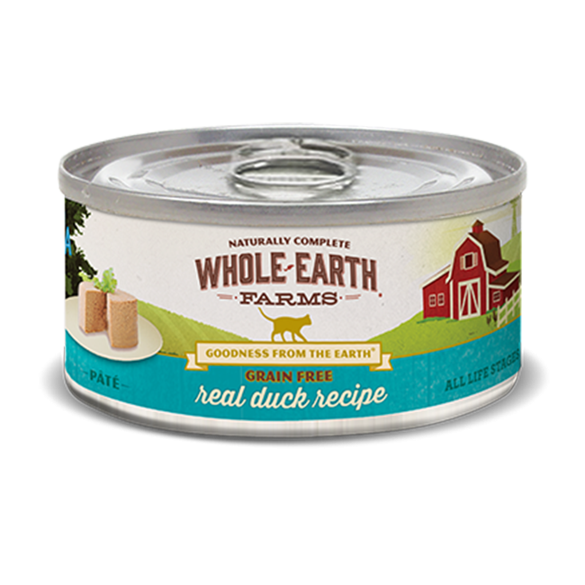 Merrick Whole Earth Farms Grain-Free Duck Canned Cat Food 2.75 oz