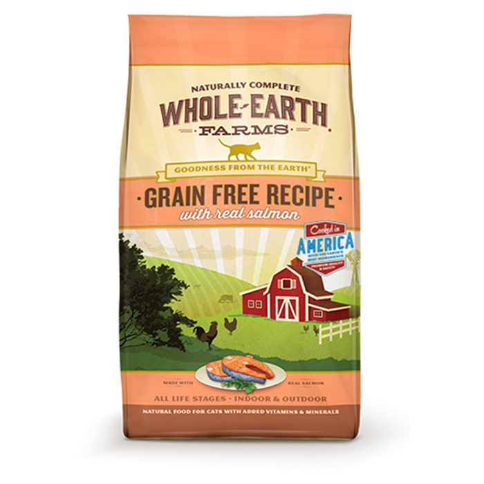Merrick Whole Earth Farms Grain-Free Salmon Dry Cat Food 2.5 lb