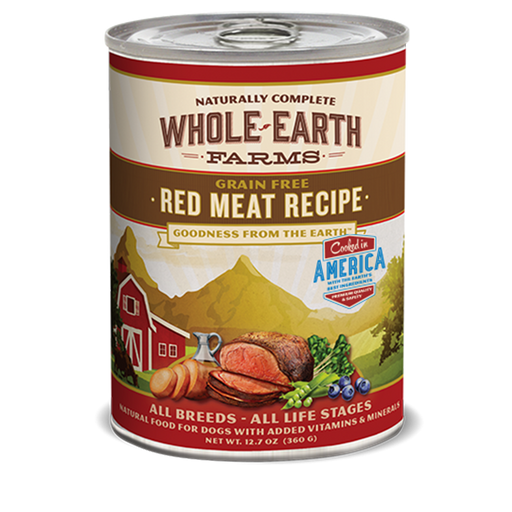 Merrick Whole Earth Farms Red Meat Dog Food 12.7 oz
