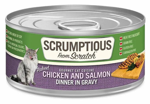 Scrumptious from Scratch Wet Cat Food, Chicken & Salmon, 2.8 oz