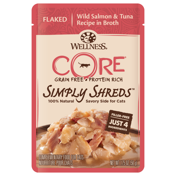 Wellness Core Simply Shreds Wild Salmon and Tuna 2.8 oz