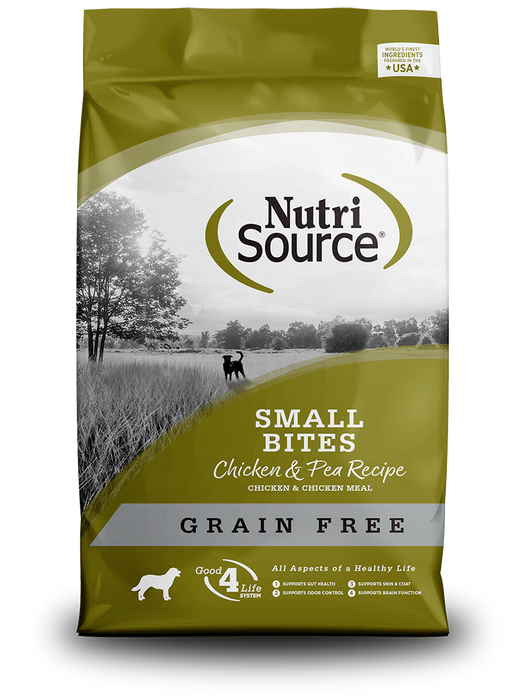 NutriSource Grain Free Small Bites Chicken & Pea Recipe