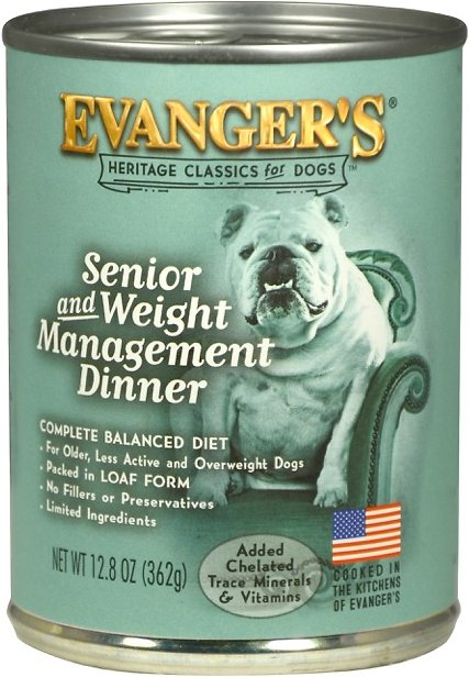 Evanger's Senior & Weight Management Dinner Dog Food, 12.8 oz