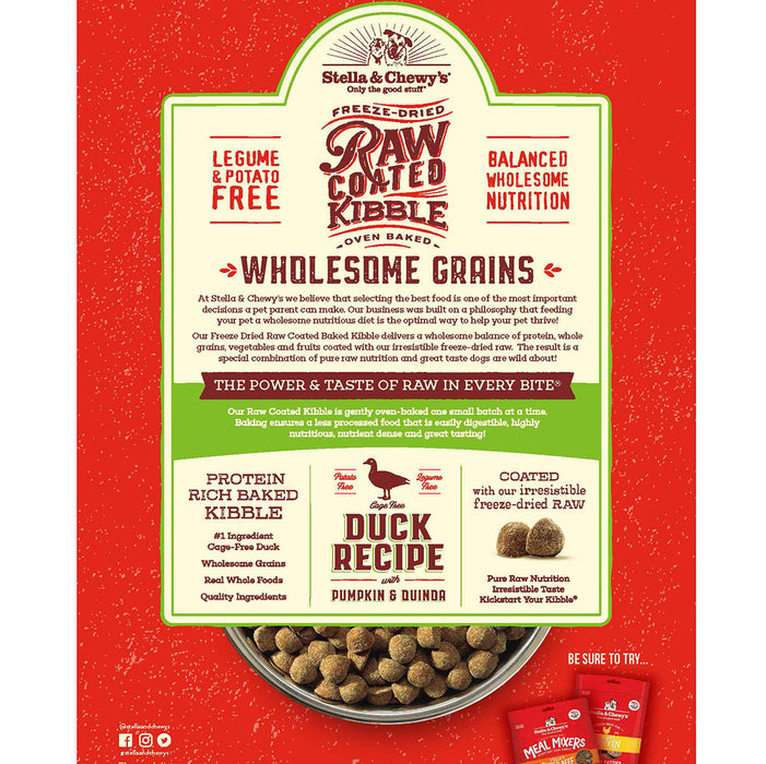 Stella & Chewy's Raw Coated Kibble with Wholesome Grains - Duck