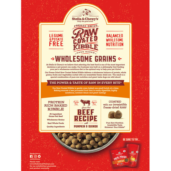 Stella & Chewy's Raw Coated Kibble with Wholesome Grains - Beef