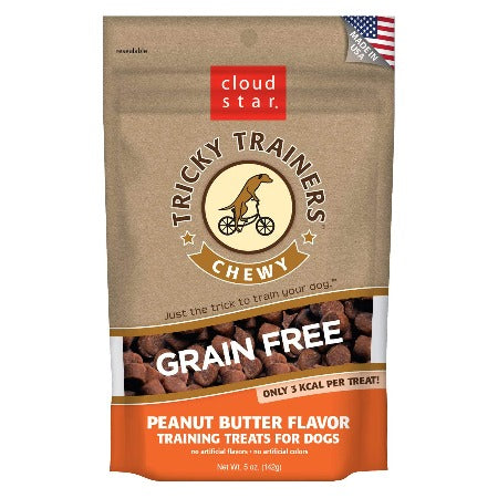 Tricky Trainers Grain Free Chewy Treat, Peanut Butter